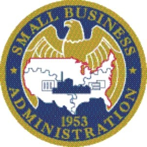 The small business administration badge.